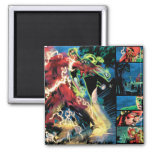 Flash and Green Lantern Panel 2 Inch Square Magnet