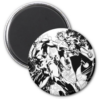 Flash and Green Lantern Panel 2 Magnet