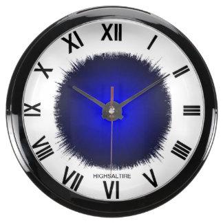 Flash azul del reloj de la aguamarina por el highs relojes pecera