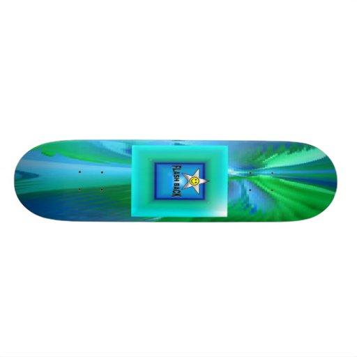 FLASH BACK DUTONE PLASTIC SKATEBOARD