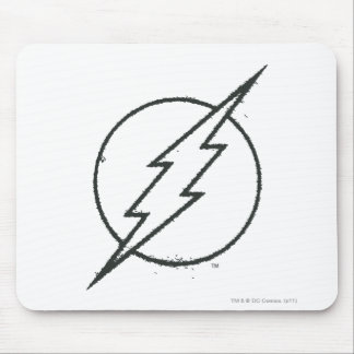 Flash Bolt Grunge BW Mouse Pad