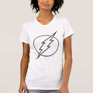Flash Bolt Grunge BW T-Shirt