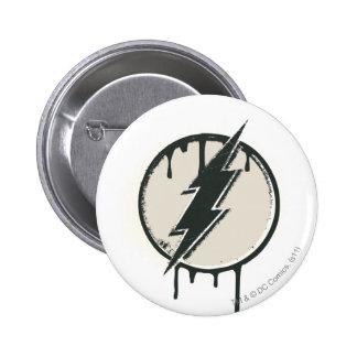Flash Bolt Paint Grunge 2 Inch Round Button