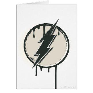 Flash Bolt Paint Grunge Card