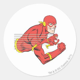 Flash Bust View Classic Round Sticker