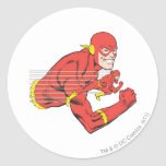 Flash Bust View Round Sticker