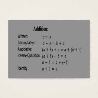 Flash Card -Properties - Addition
