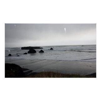Flash Catching Ocean Rain Poster