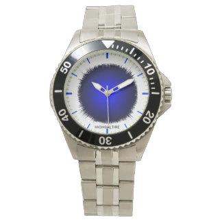 Flash clásico del azul del reloj del acero