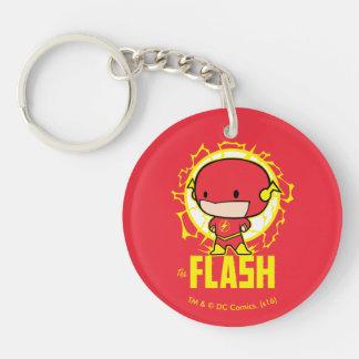 Flash de Chibi con electricidad Llavero Redondo Acrílico A Doble Cara