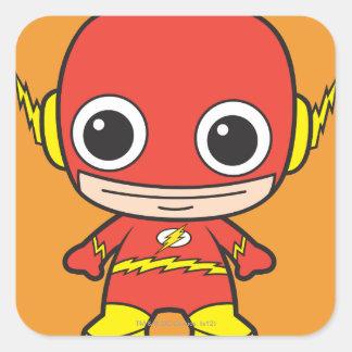 Flash de Chibi Calcomanías Cuadradass Personalizadas