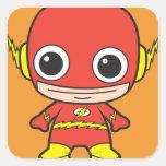 Flash de Chibi Pegatina Cuadrada