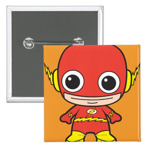 Flash de Chibi Pin Cuadrada 5 Cm