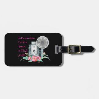 Flash de la cámara del fotógrafo etiquetas para maletas