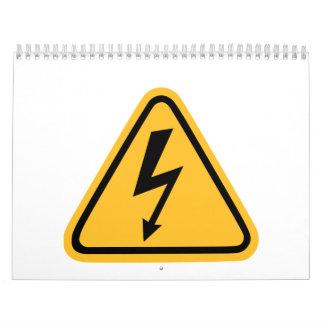 Flash de la electricidad calendarios