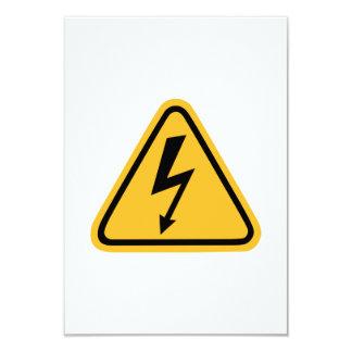 """Flash de la electricidad invitación 3.5"""" x 5"""""""