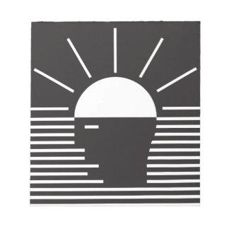 flash de la idea brillante bloc de papel