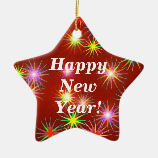 Flash del Año Nuevo Ornamentos De Navidad