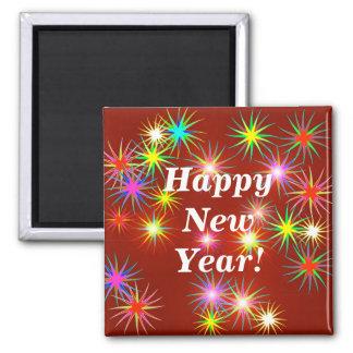 Flash del Año Nuevo Imán Cuadrado
