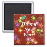 Flash del Año Nuevo Imán De Frigorífico