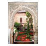 Flash del jardín de Alhambra del La de Granada Tarjeta De Felicitación