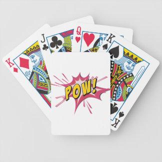 Flash del prisionero de guerra en blanco barajas de cartas
