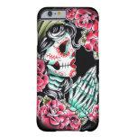 Flash del tatuaje del cráneo de Dia De Los Muertos Funda Para iPhone 6 Barely There