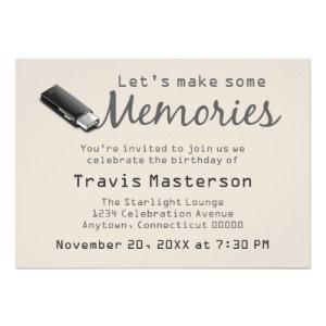 Flash Drive Birthday Party Invite