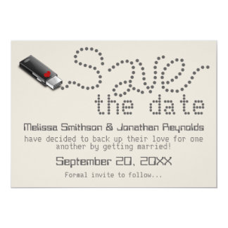 Flash Drive Save the Date Announcement