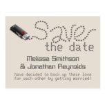 Flash Drive Save the Date Postcard