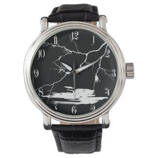 Flash en la noche relojes de pulsera