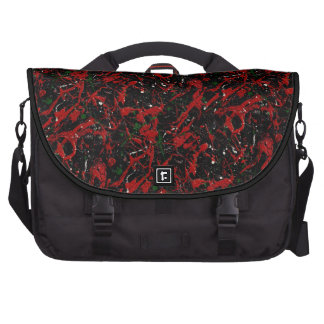 FLASH FIRE (abstract art design - variant 1) ~ Laptop Computer Bag