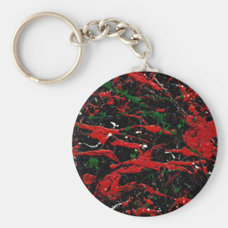 FLASH FIRE (an abstract art design) ~ Keychain
