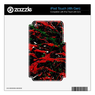FLASH FIRE (an abstract art design) ~ Skins For iPod Touch 4G