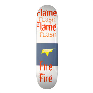 Flash Flame Fire Design Skateboard