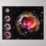 Flash from Red Variable Star V838 Monocerotis Print