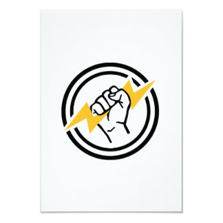 Flash hand electrician 3.5x5 paper invitation card