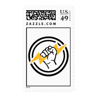 Flash hand electrician postage stamp