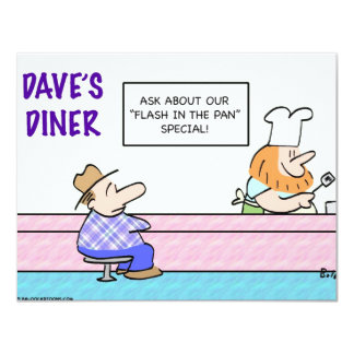 flash in the pan diner card