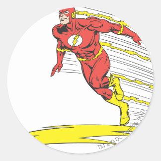 Flash Leaps Left Classic Round Sticker
