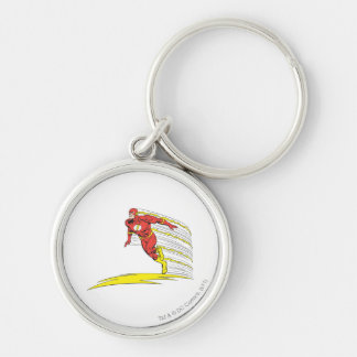 Flash Leaps Left Keychain