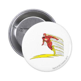 Flash Leaps Left Pinback Button