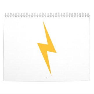 Flash lightning bolt calendar