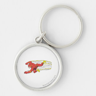 Flash Lunges Left Keychain