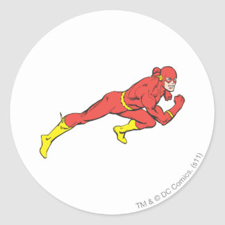 Flash Lunges Right Classic Round Sticker