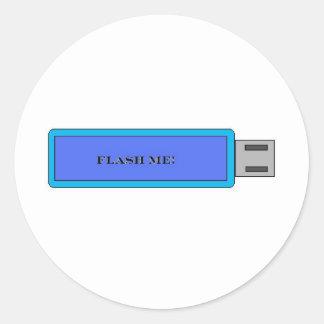 FLASH ME! CLASSIC ROUND STICKER