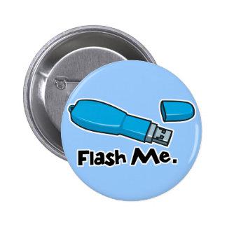 flash me flash drive design 2 inch round button