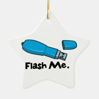 flash me flash drive design ceramic ornament