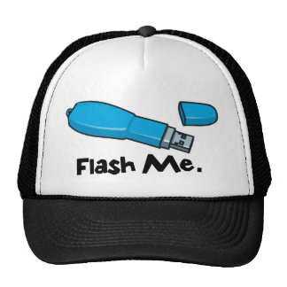 flash me flash drive design mesh hat