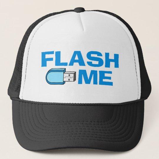 flash_me trucker hat